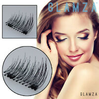 2 Pair Magnetic Eyelashes Magnet Eye Lashes 3D False Reusable Natural Extensions