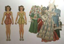 Vintage cut Miloche paper dolls Betty Brewer, 1942