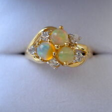 Beautiful Certified Rare Indonesian Opal Gold Ring