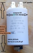 20µF START/RUN CAPACITOR FOR SWIMMING POOL, SPA PUMPS, ELECTRIC MOTORS rated450V
