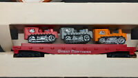 Tyco Western Maryland Skid Flat Car with 3 Tractor #351B - HO Scale VINTAGE
