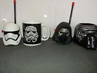 Star Wars Set of Coffee Mugs Cups Kylo Ren Storm Trooper Walkie Talkie