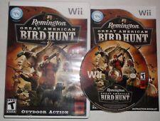 Remington Great American Bird Hunt (Nintendo Wii, 2009) COMPLETE w/ Manual