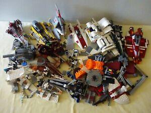 Lego Star Wars - Lot Vrac, Pièces, Vaisseaux Incomplets - Poids: 3,5 kg
