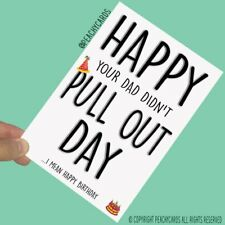 Funny Happy Birthday Cards Rude Cards Humour Crude Cards Greeting Cards PC629