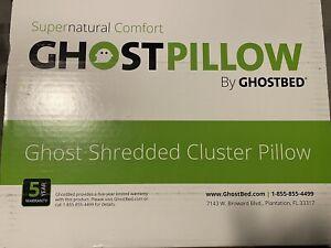 GhostBed GhostPillow Shredded Memory Foam Adjustable Pillows 2-Pack, New, Sealed
