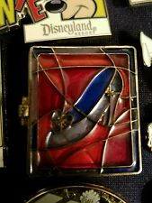 Disney Cinderella Stained Glass Slipper Gold Princess Pin NEW