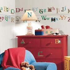 ALPHABET WALL STICKERS Set of NEW Kids Bedroom Toy Room Classroom Letters Decals