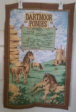 Vintage set of 2 horses cotton  kitchen towels