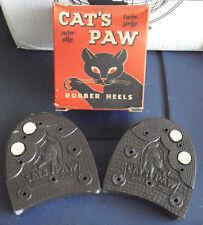 Vintage 1950s Cat's Paw Twin Grip Rubber Shoe Heels 13-14 in Box