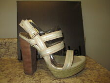 "Luxury Rebel ""Jolie"" Slingback Platform  Platinum Canvas Upper New in Box"