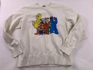 Uniqlo Kaws X Sesame Street Sweatshirt ELMO COOKIE MONSTER  SIZE Medium Crewneck