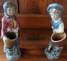 European Majolica Pottery Vases