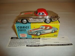CORGI 304S MERCEDES BENZ 300SL HARDTOP ROADSTER - EXCELLENT in original BOX