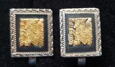 VINTAGE PERUVIAN EARRINGS 18K Sterling silver