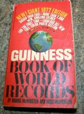 1977 EDITION GUINNESS BOOK OF WORLD RECORDS paperback BOOK
