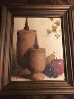 Vintage Original STILL LIFE Oil Painting by artist JINX