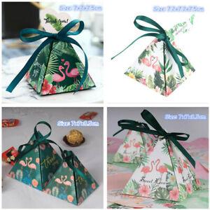 10 Stücke Pyramide Flamingo Candy Box Hochzeit Lieblings Geschenke Sweet Favor