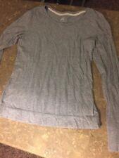 SO Juniors Gray Long Sleeve Tshirt Size Large