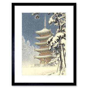 Cultural Landscape Japan Pagoda Ninnaji Kawase Hasui Framed Wall Art Print