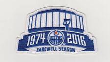 Edmonton Oilers Farewell Season Patch 2016/17  Rexall Place