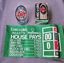VINTAGE EXEC-U-PLAY IMAGINAMICS ELECTRONIC ROULETTE GAME W/ LAYOUT & BOX  WORKS