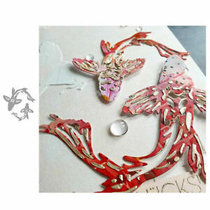 Lucky Carp Fish Metal Cutting Dies Scrapbooking Embossing Paper Card Craft DIY