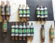 set of 17 New Old Stock Bussmann One Time Buss Fuses collection Fusetron