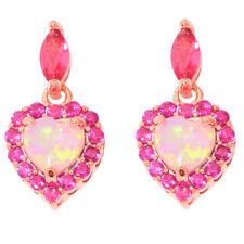 Pink Opal Kunzite Silver Rose Gold Filled Women Jewelry Gem Stud Earrings OH4348