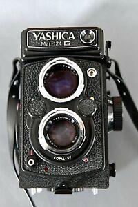 YASHICA Mat 124 G + Tasche ,Anleitung und Schutzkappe. Seriennumer: 217388