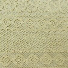 """Beige Cotton Crochet Indian Designer Sewing Material 49"""" Wide Fabric By The Ya"""