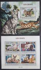 Briefmarken Katzen Burundi Bl.+KB.,postfrisch