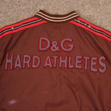 DOLCE & GABBANA HARD ATHLETES Brown Jacket XS Extra Small Track Stripe Letterman