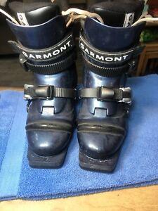 GARMONT Veloce Nordic Telemark 3-Pin Ski Boots Mondo 24 Liner DX 23-24.5