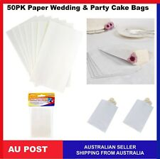 50x White Paper Wedding Birthday Party Lolly Treat Cake Candy Bags
