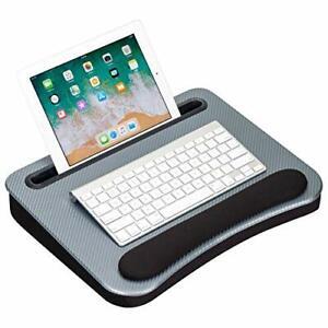 LapGear Smart-e Memory Foam Lap Desk - Silver Carbon - Fits up to 15.6 Inch l...