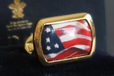 HALCYON DAYS STARS & STRIPES USA FLAG CUFFLINKS New Boxed