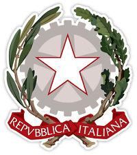 Italia Italy Repubblica Italiana stemma emblema etichetta sticker 11cm x 13cm