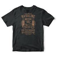 Gasoline Motor Oil Vintage Biker T-shirt Motorcycle Motors Spirit t shirt tee