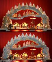 3D Schwibbogen Weihnachtsmarkt mit Pyramide + Räucherhaus Erzgebirge + Gratis
