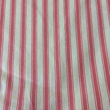 John Louden grey or pink woven stripe ticking Canvas fabric