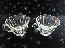 VINTAGE CREAMER & SUGAR PANELED SIDES w/ FLAIR SCALLOPED RIM HIGH QUALITY