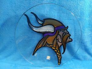 NFL Minnesota Vikings Glass serving bowl chips,punch new