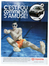 1998 TOYOTA RAV 4 Vintage Original Print AD - Silver car photo swimming pool