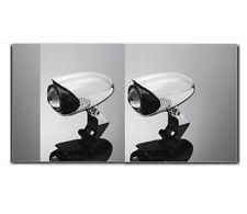 Coppia Fari faretti supplementari laterali spotlight foglamp moto H3 cromati