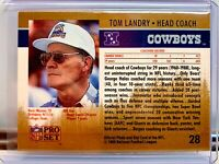 1990 Pro Set Error/Test? Tom Landry/Andre Reed Wrongback Extremely Rare 1/1 Read