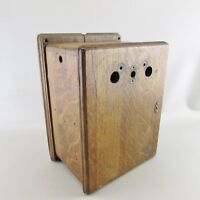 Northern Electric Wooden Wall Telephone Ringer Box - Empty