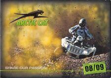 Arctic Cat ATV 2008-09 UK Market Sales Brochure 400 500 650 700 1000 Prowler