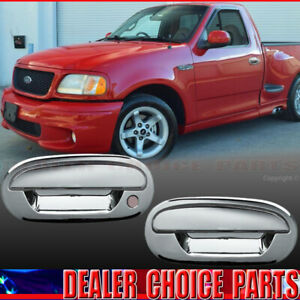 1997-2002 2003 FORD F150 F-150 Chrome 2 Door Handle COVERS Trims W/O KPH W/O PSK