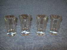 Set of 4 VINTAGE Sparkling Crystal Clear Glass Barware Drinking SHOT GLASSES-EUC